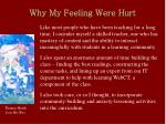 why my feeling were hurt