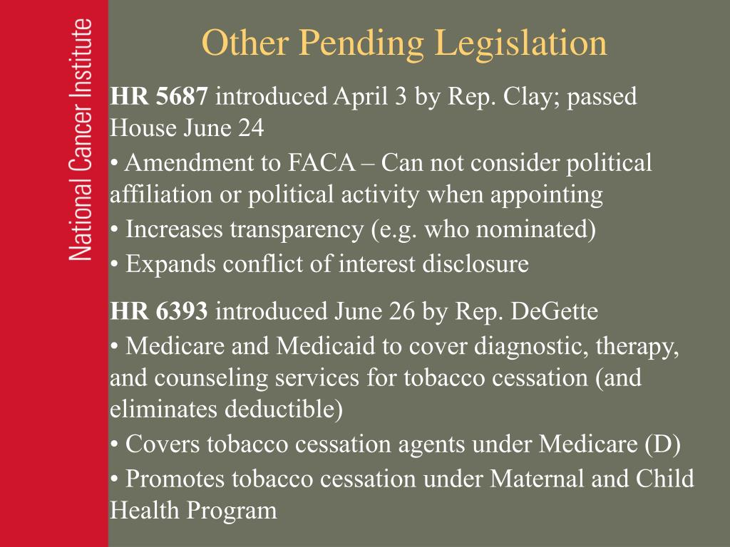 Other Pending Legislation