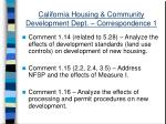 california housing community development dept correspondence 129