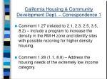 california housing community development dept correspondence 133