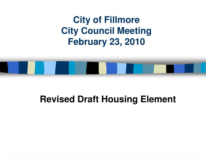 city of fillmore city council meeting february 23 2010 n.