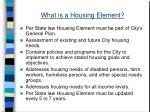 what is a housing element