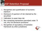 asf retention proposal