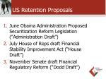 us retention proposals