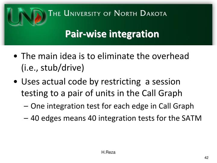 Pair-wise integration