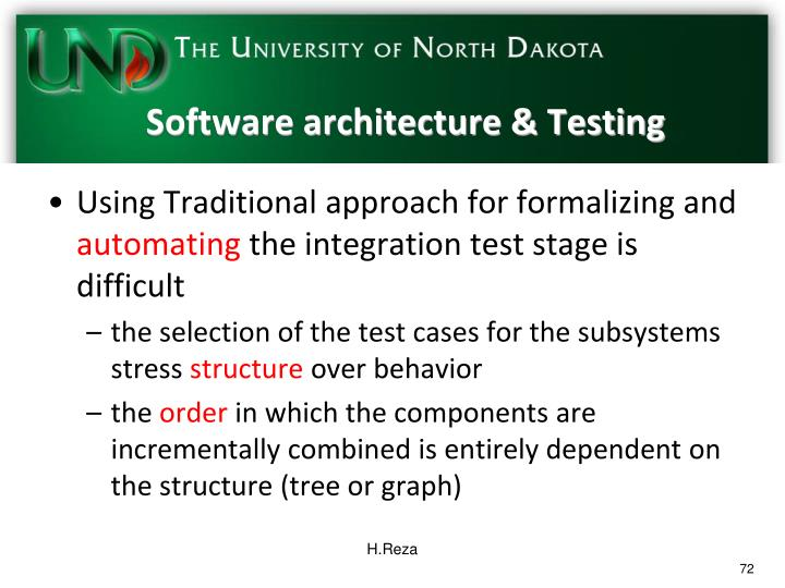 Software architecture & Testing