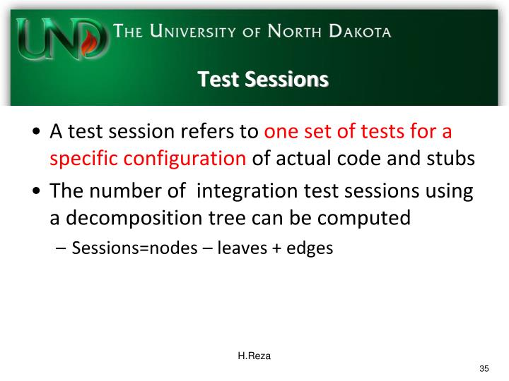 Test Sessions
