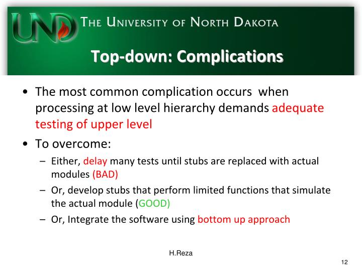 Top-down: Complications