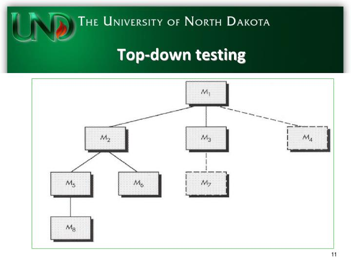 Top-down testing