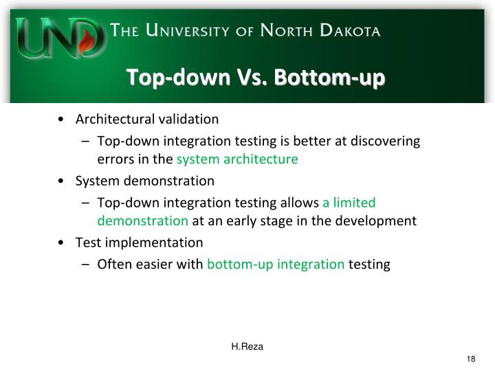 Top-down Vs. Bottom-up
