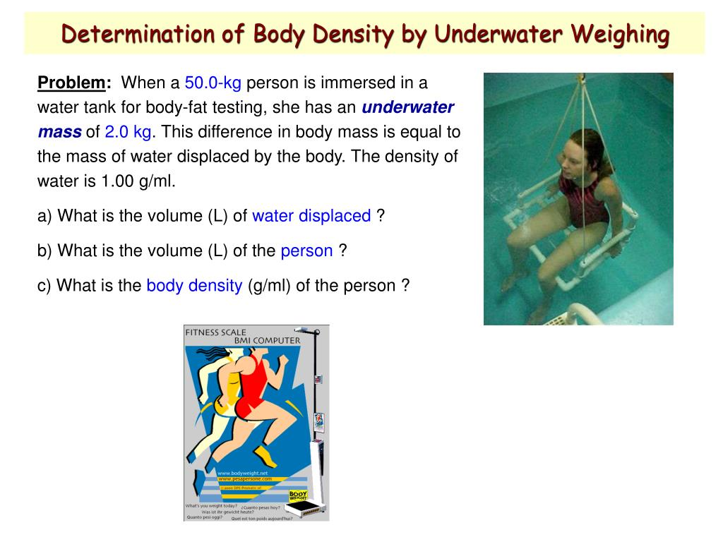 Determination of Body Density by Underwater Weighing