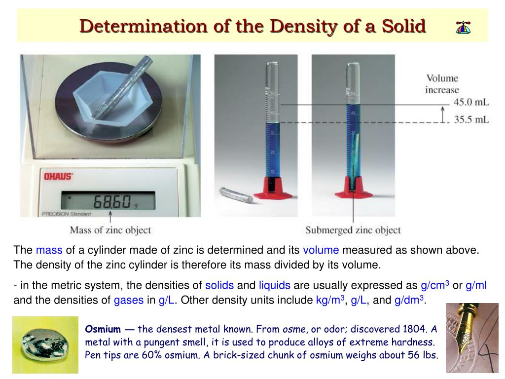 Determination of the Density of a Solid