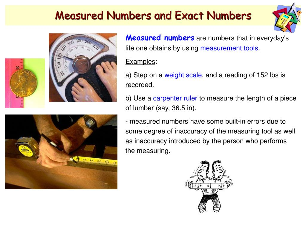 Measured Numbers and Exact Numbers