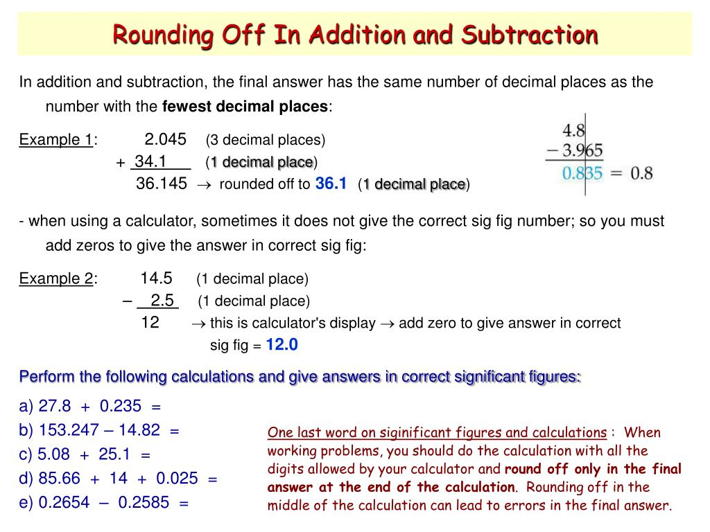 Rounding Off In Addition and Subtraction