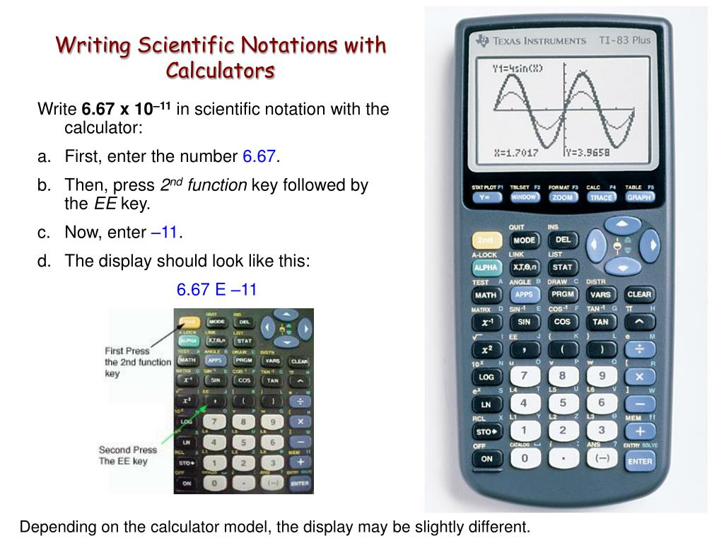 Writing Scientific Notations with Calculators