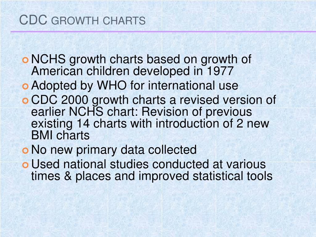 CDC growth charts