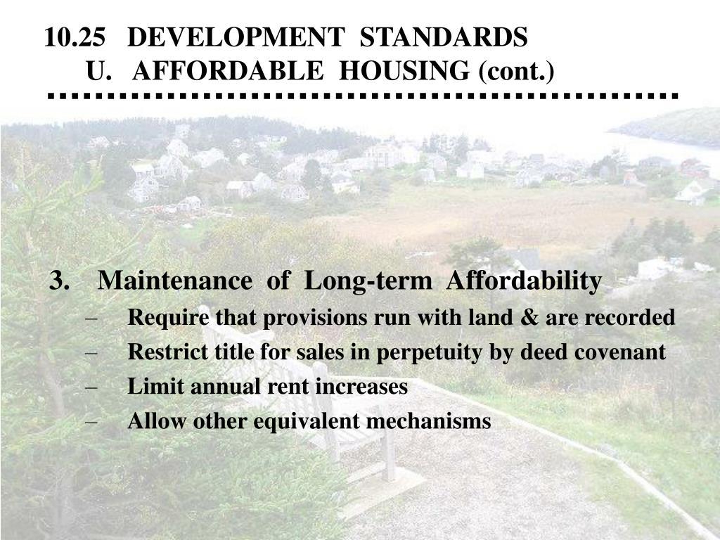 10.25   DEVELOPMENT  STANDARDS
