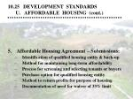 10 25 development standards u affordable housing cont20