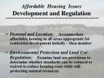 affordable housing issues development and regulation