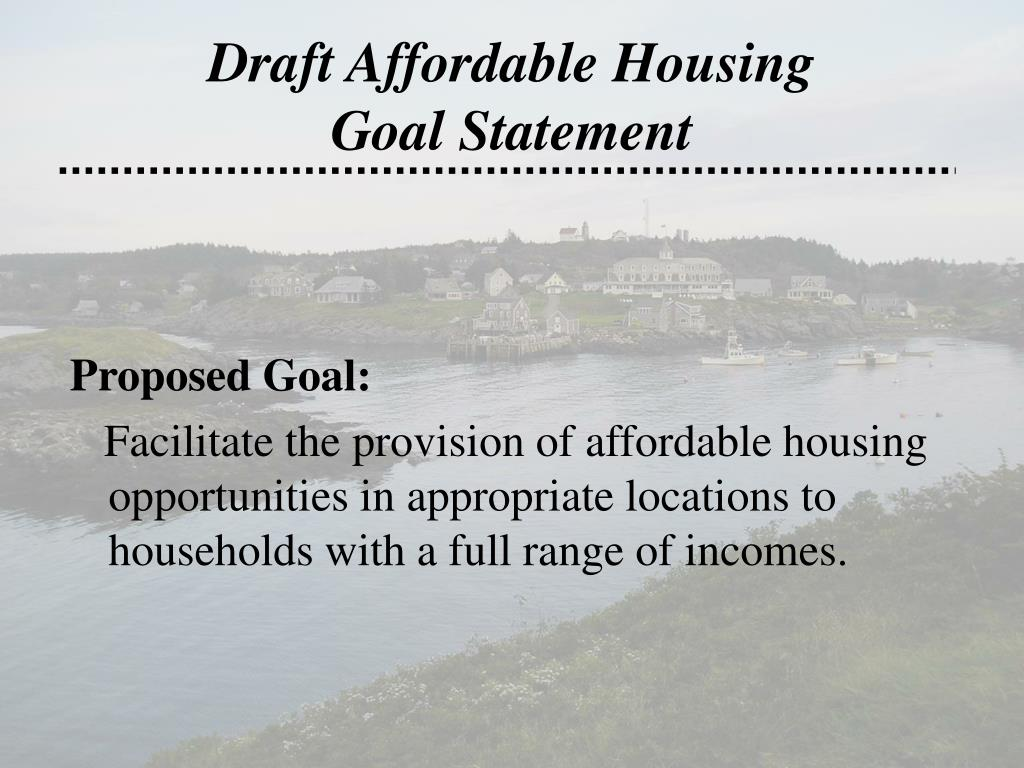 Draft Affordable Housing