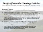 draft affordable housing policies