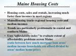 maine housing costs