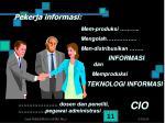pekerja informasi