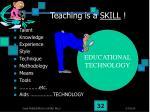 teaching is a skill