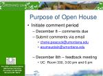 purpose of open house3