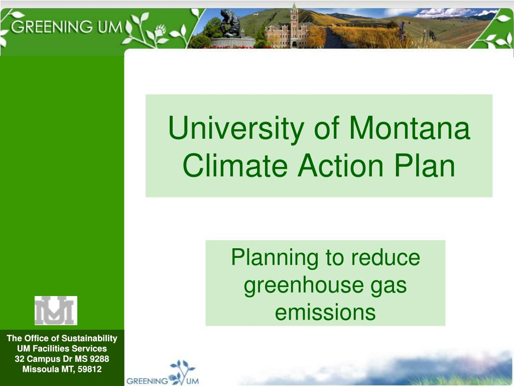 university of montana climate action plan l.