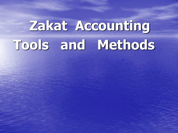 Zakat  Accounting