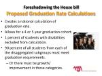 foreshadowing the house bill p roposed graduation rate calculations