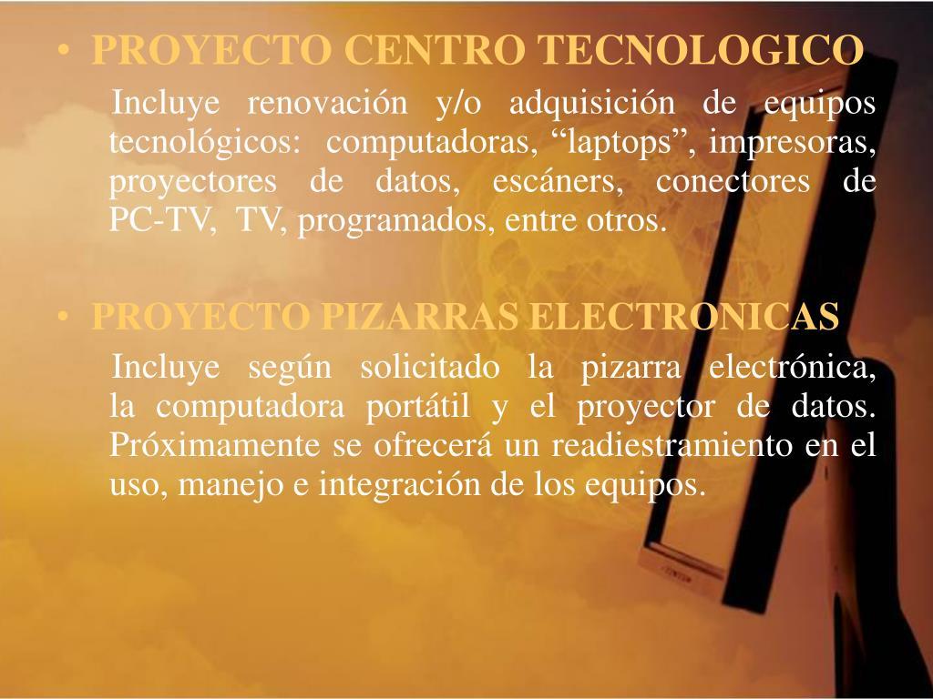 PROYECTO CENTRO TECNOLOGICO