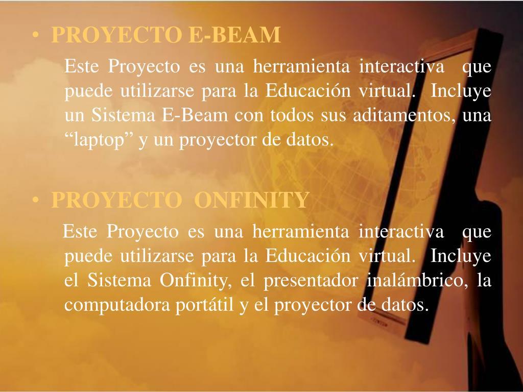PROYECTO E-BEAM