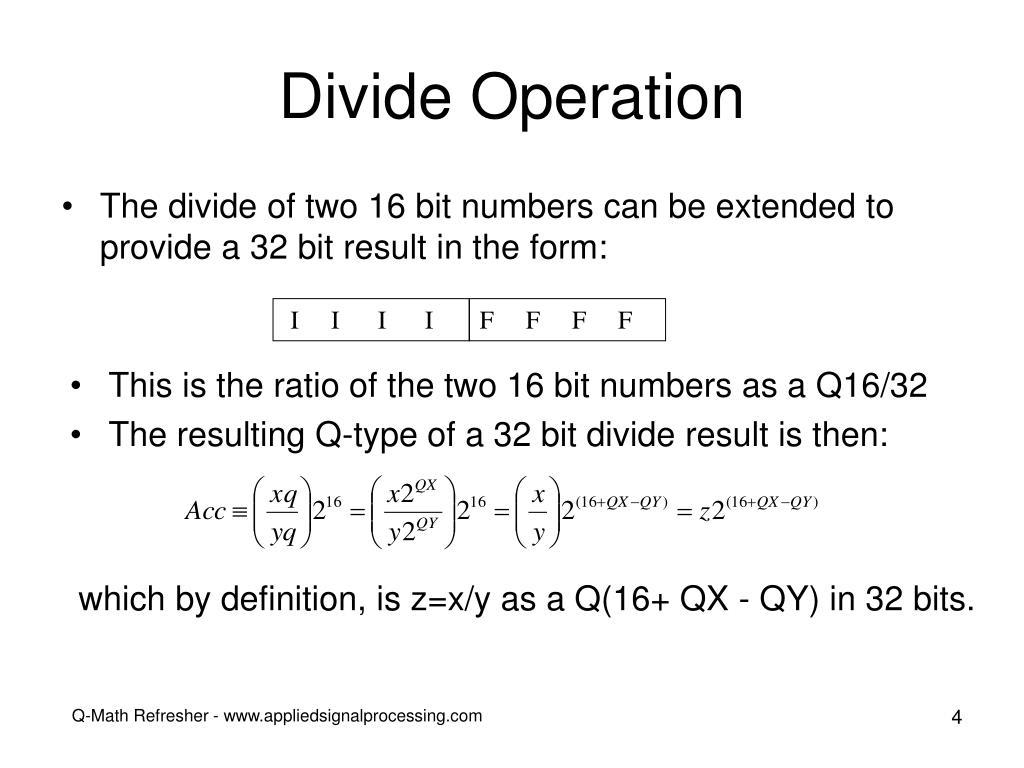 Divide Operation