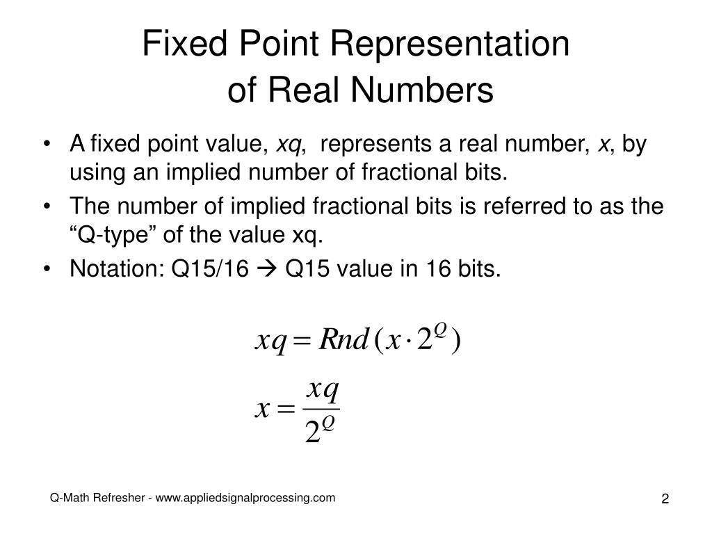 Fixed Point Representation