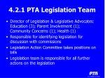 4 2 1 pta legislation team