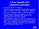 4 2 2a specific pta legislative activities