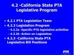 4 2 california state pta legislative program