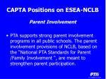 capta positions on esea nclb