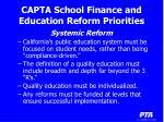 capta school finance and education reform priorities