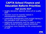capta school finance and education reform priorities11