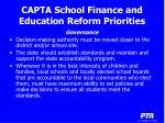 capta school finance and education reform priorities13