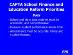 capta school finance and education reform priorities14