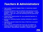 teachers administrators