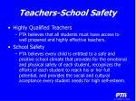 teachers school safety