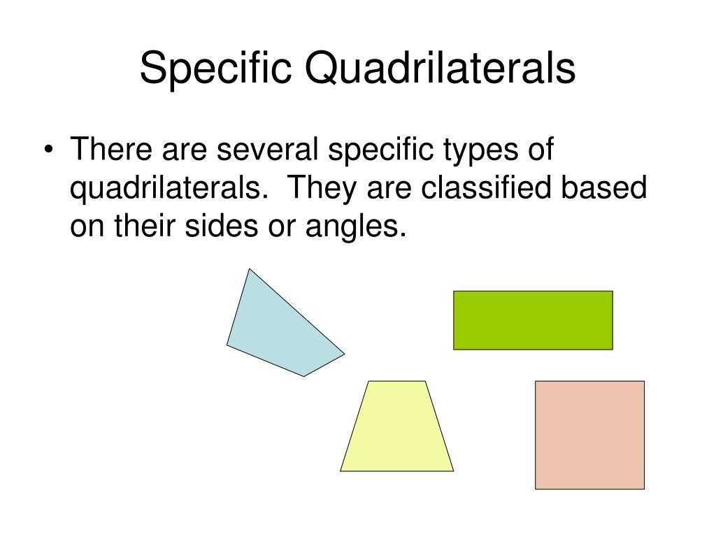 Specific Quadrilaterals