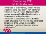 computing ayp multiple measures