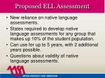 proposed ell assessment