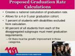 proposed graduation rate calculations